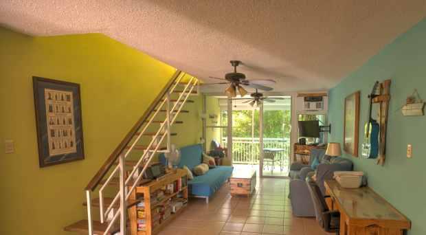 Living area view towards balcony