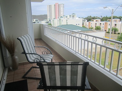 Balcony view off living area